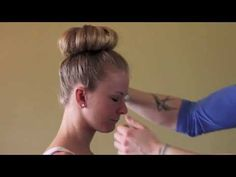 Short hair tutorial video for ballet bun--- GREAT tutorial!! Pretty much how I do it... Just less messy here:) @Jaime Nivala & Co. Salon