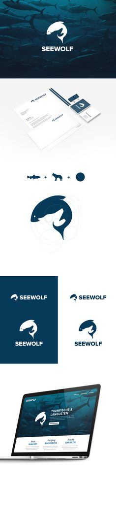 SEAWOLF Logo Design, Corporate Design, Screendesign on Behance