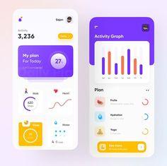 Web Design, Make Design, Fitness Activities, Daily Activities, Mobile App Design, Mobile Ui, Ui Inspiration, User Interface Design, How To Get