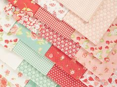 Moda Strawberry Fields Revisited By Fig Tree & Co. Precut Fabric - None