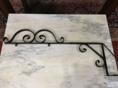 Sign Holder, Black Iron, New from Black Dog Salvage