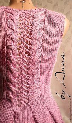 Вязаная жилетка Сирень Summer Knitting, Cozy Sweaters, Beautiful Crochet, Cable Knit, Knitting Patterns, Knitting Ideas, Crochet Patterns, Knitwear, Stitches