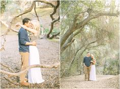 Film Inspired Whimsical San Dimas Engagement Photos by Brittanee Taylor Photography