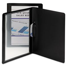 Frame View Report Cover with Swing Clip, Portrait, Black, 5/Pack Personalize the cover sheet of your project, report or proposal and let it show through the clear front of this unique report cover. Stylish border frames the page with eye-catching color. Swing clip securely holds up to 30 sheets of paper. Made of thick, durable, acid-free, tear- and water-resistant polypropylene.