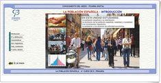 """""""La población española"""" (Aplicación interactiva de Ciencias Sociales de Primaria)"""