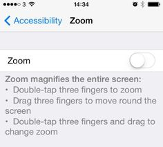 Toggle this switch on to zoom on photos such as Instagram