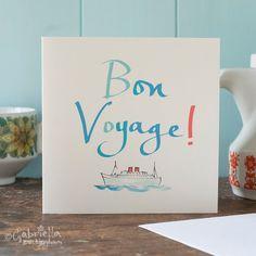 Bon Voyage Card by GabriellasShop on Etsy