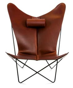 OxDenmarq Armchair KS Chair - Stainless Steel Frame - Leather - Cognac |  https://designonline24.nl