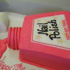 Awesome nail polish cake for teens