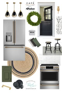 Excellent modern farmhouse decor are offered on our internet site. look at this and you wont be sorry you did. Green Kitchen, Kitchen Colors, Kitchen Decor, Kitchen Ideas, Kitchen Inspiration, Kitchen Interior, Design Inspiration, Design Ideas, Modern Farmhouse