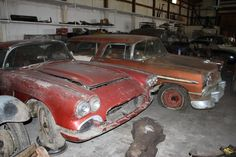 Hot rods, Corvettes and more hidden for decades are found in this latest HOT ROD Unlimited. Classic Hot Rod, Classic Cars, Vintage Cars, Antique Cars, Abandoned Cars, Abandoned Vehicles, Chevy Nomad, Car Barn, Rust In Peace
