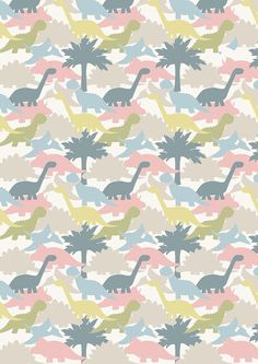 Dinosaur Print Cotton Fabric from Lewis & Irene-per by CraftyBaba