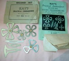 Vintage Sewing Tool: Kay's Embroidery Pattern Template (09/21/2011)