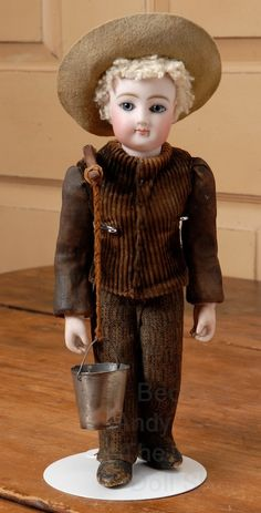"""Incredible 11.75"""" F.G. Exhibition Doll or Display Figure from beckysbackroom on Ruby Lane"""