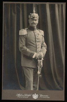 Bayern Offizier mit Orden Pickelhaube - KAB Passau 1907   Sammeln & Seltenes, Militaria, 1871-1918.