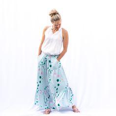 Salvia Skirt Front down Boho Stil, Salvia, Floral, Skirts, Fashion, Side Purses, Sewing Patterns, Moda, Skirt