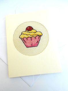 Cupcake Cross Stitch Card £3.50