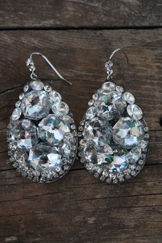 a cluster of rhinestones -- earrings  www.punchypony.com