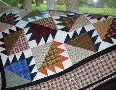 bear paw quilt block   ... my last Bear Paw quilt, I didnt use anything but the block itself