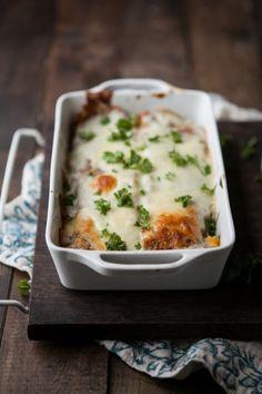 Roasted Pumpkin and Smoked Blue Cheese Lasagna | Naturally Ella