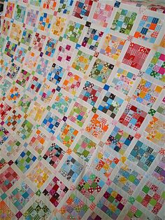 postage stamp quilt top finished! | after three and a half y… | Flickr