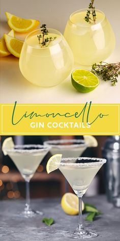 Deliciously bright lemon gin cocktails made with limoncello to brighten up the dark evenings Discover the Pallini family's secret recipe! Limoncello Cocktails, Best Gin Cocktails, Gin Cocktail Recipes, Beach Cocktails, Spring Cocktails, Refreshing Cocktails, Summer Drinks, Cocktail Drinks, Gin Lemon Cocktail