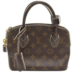 Preowned Louis Vuitton Limited Edition Monogram Canvas Gold Top Handle... (4,425 BAM) ❤ liked on Polyvore featuring bags, handbags, multiple, gold bag, brown bag, louis vuitton handbags, canvas handbags and louis vuitton bags