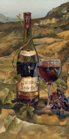 Great for 'Tuscan Valley Red' by Marilyn Hageman Painting Print by Great Big Canvas Wall Art Decor from top store Wine Painting, Painting Prints, Canvas Prints, Framed Prints, Art Prints, Big Canvas, Paintings, Tuscan Art, Red Wall Art