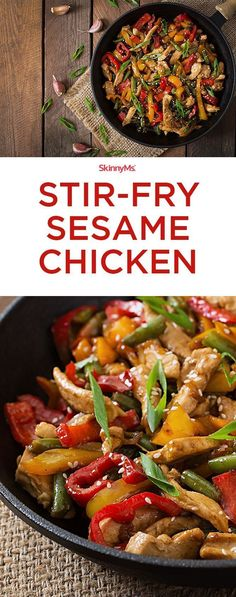 Stir-Fry Sesame Chicken Stir-Fry Sesame Chicken - easy and packed with superfood nutrition! Stir-Fry Sesame Chicken Stir-Fry Sesame Chicken - easy and packed with superfood nutrition! Wok Recipes, Asian Recipes, Dinner Recipes, Cooking Recipes, Healthy Recipes, Paleo Dinner, Easy Stirfry Recipes, Chicken Stirfry Recipes, Gastronomia