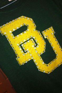 #Baylor University Rhinestone Hoodie by ThreadsToo on Etsy, $35.00