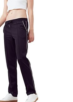 MANGO - Trim baggy Straight trousers - Size:L - Color:Black  Price Β£35.99
