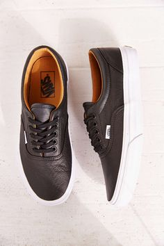 Vans era premium leather womens sneaker - urban outfitters s Nike Shoes Outfits, Nike Shoes Cheap, Nike Shoe Store, Air Jordan Sneakers, Nikes Girl, Leather Sneakers, Leather Vans, Sock Shoes, Me Too Shoes
