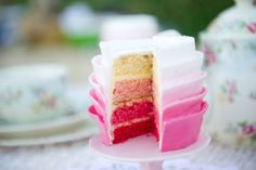 High Tea On The Beach Party - Babyshower Pink Cake Ideen Pretty Cakes, Beautiful Cakes, Amazing Cakes, Mini Cakes, Cupcake Cakes, Baby Cakes, Party Cupcakes, Cupcake Ideas, Tulip Cake