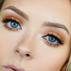 We can't look away from sunset eyeshadow. #refinery29 http://www.refinery29.com/2016/08/118376/summer-makeup-august-2016#slide-3