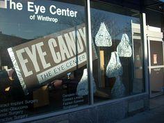 Crystal Burney Art- Custom window dressing for Optometrist's office