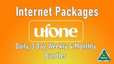 Here is a list of Ufone Internet Packages with subscription details of Daily, Weekly, 3 Day and Monthly Data Bundles all in one place for your convenience.