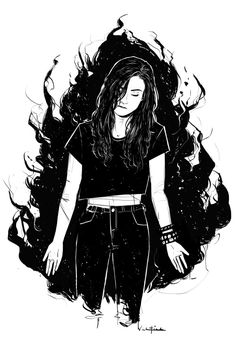 valentinemichaelsmith:  always a good time drawing @natvanlis as carmilla.