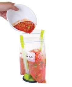If you have no friends who can hold a ziploc bag open for you, you might want to ask yourself why you're making so much salsa. #zulilyfinds