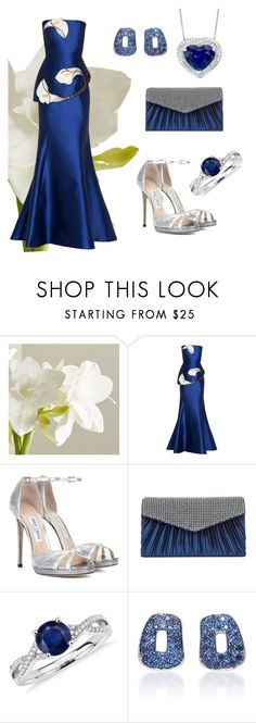 """""""Lily&Silver by Rigel"""" by margoth-mirror ❤ liked on Polyvore featuring Crate and Barrel, Andrew Gn, Jimmy Choo, Jessica McClintock, Blue Nile and Mattioli"""