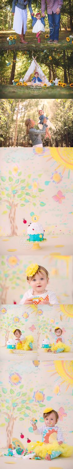 you are my sunshine cakesmash first birthday party