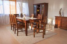 Essgruppe 180cm Siena - Esstisch & 6 Stühle - Akazie massiv - braun…