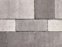 Quartierpflaster  Farbmuster grau-schwarz nuanciert