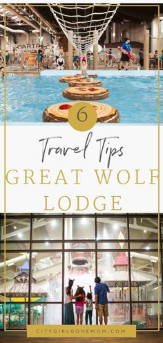 6 Reasons Why You Should visit Great Wolf Lodge.  This fun weekend getaway family vacation destination is an indoor option for everyone from young kids to grandparents.  A trip to the waterpark will thrill your children from toddler to teens, and parents will get to relax a bit as well - win win! This location in Anaheim, California was a favorite for our family - here's our tips for enjoying the hotel and indoor water park #waterpark #anaheim #greatwolflodgetips #greatwolflodgeanaheim #ad