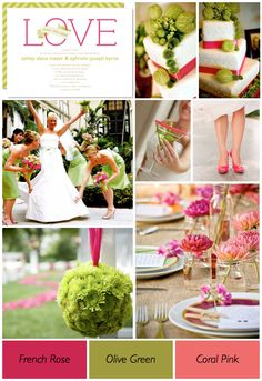 The 110 best Wedding - Pink & Green - Bright images on Pinterest ...