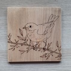 ImpressioniDesign artist - pyrography on wood, shading and fine lines, bird, springtime Pyrography, Spring Time, Bird, Photo And Video, Artist, Instagram, Design, Home Decor, Birds