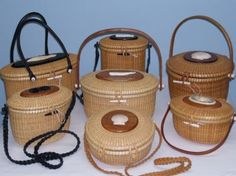 Each handmade purse is an authentic, original piece of craftsmanship. They are beautiful, yet practical. Our handmade purses are works of art that are durable and handy. Each Nantucket purse is hand woven using rattan or cane onto cherry wooden molds with bases also made from cherry wood.