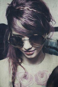 ♥Purple Hair Girl-Vintage Grunge Fashion♥