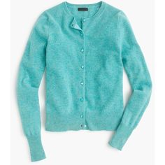 J.Crew Collection Cashmere Cardigan Sweater ($265) ❤ liked on Polyvore featuring tops, cardigans, j crew cardigan, blue top, j.crew, long sleeve tops and blue long sleeve top
