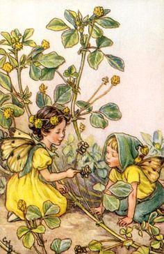 Spring Fairy Vintage Wall Art