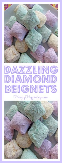 These festive Dazzling Diamond Beignets will be sure to light up your Mardi Gras! Whether you're having a party or just making them for fun, they are delicious and a great treat. Mardi Gras Food, Mardi Gras Party, Edible Crafts, Food Crafts, Fun Buns, Nice Buns, Mardi Gras Activities, Beignet Recipe, Junk Food Snacks